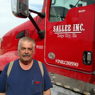 17 year veteran Sallee Inc. company driver Dave Collins.